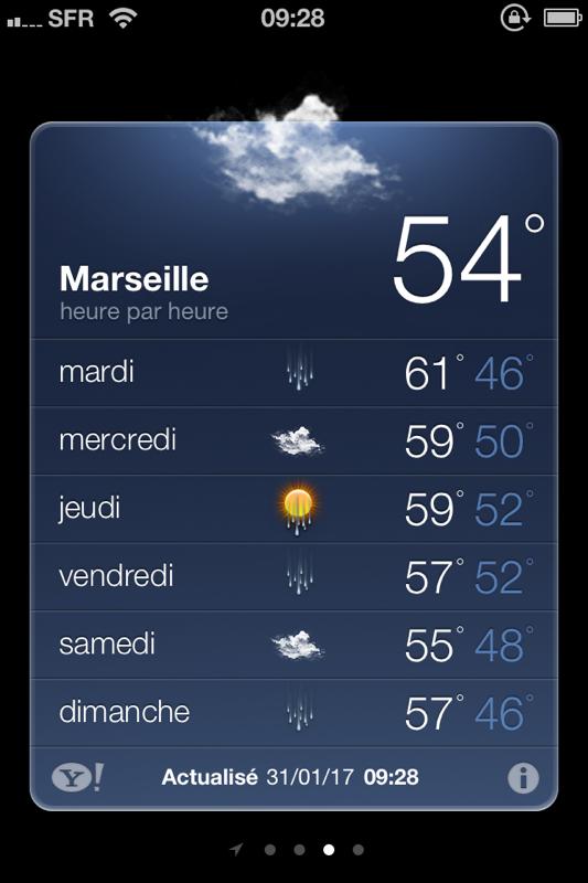 Météo annoncée à Marseille !!!!! ?????
