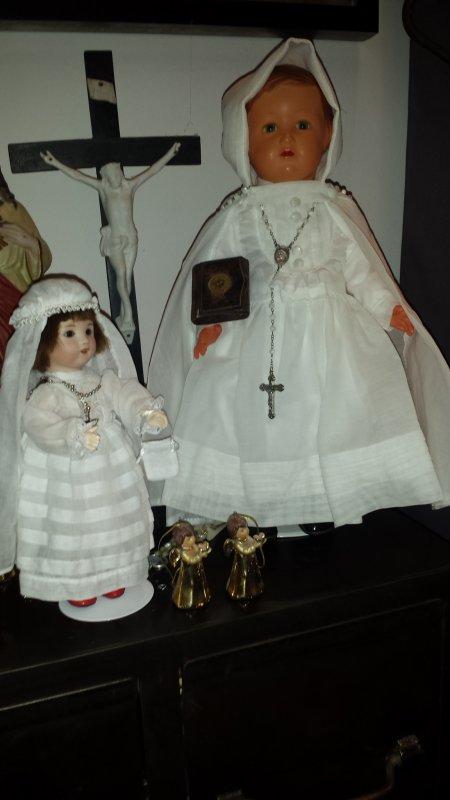 Cette année  c'est la communion de Loulotte et Françoise ! + photo souvenir ma maman en communiante