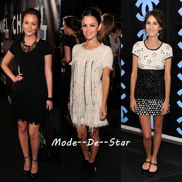 Leighton Meester , Rachel Bilson , Alexa Chung au  New York Fall Fashion Week 2010