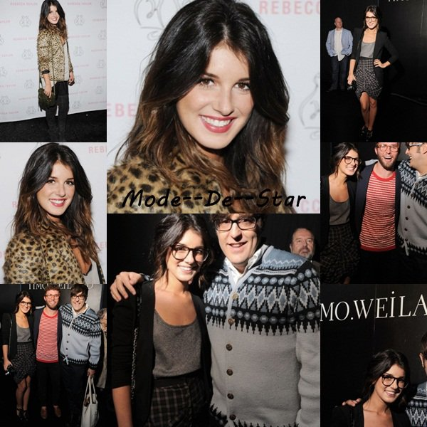 Shenae Grimes était au Mercedes-Benz Fashion Week & au Rebecca Taylor Spring 2011 Fashion Show