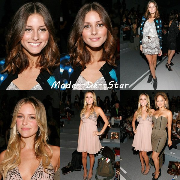 Kristin Cavallari & Olivia Palermo & Kat Deluna au  New York Fall Fashion Week 2010 - Spring Collection ( Par contre pas Top la coupe de Kat :\ )