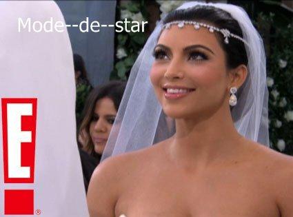 Première photo de la belle Kim le jour de son mariage ♥