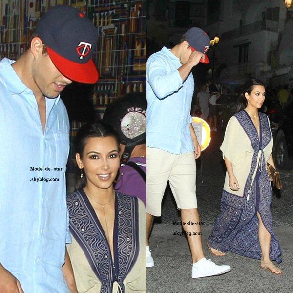 Kim & Kris le soir pour allez dinner en Italie