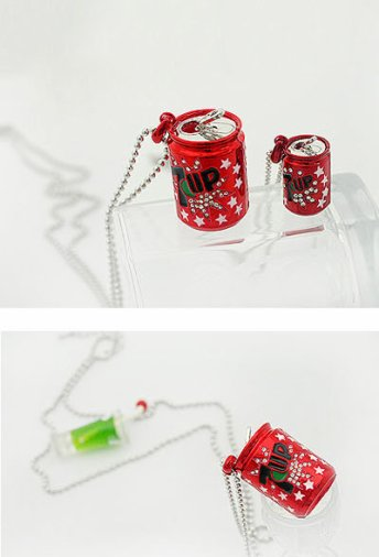 collier 7up rouge