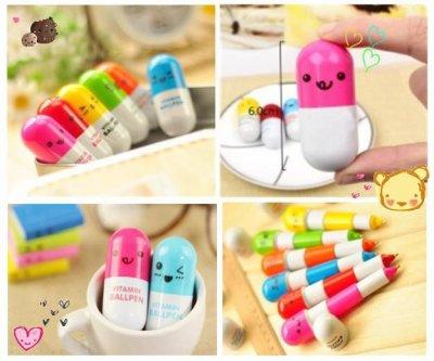 Crayons capsule smiley