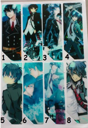 marques pages blue exorcist, black rock shooter, miku hatsune