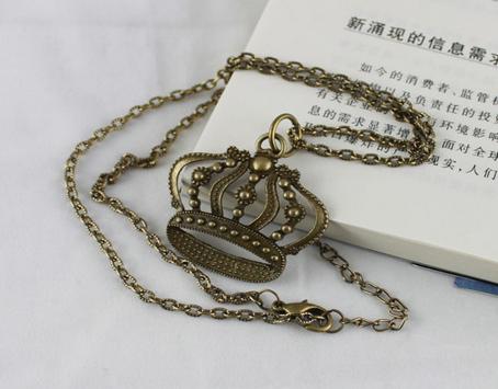 collier couronne bronze
