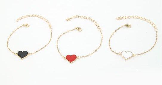 Bracelet coeur dorée