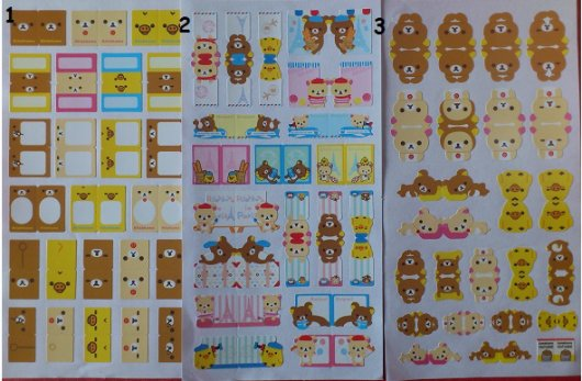 marques pages rilakkuma