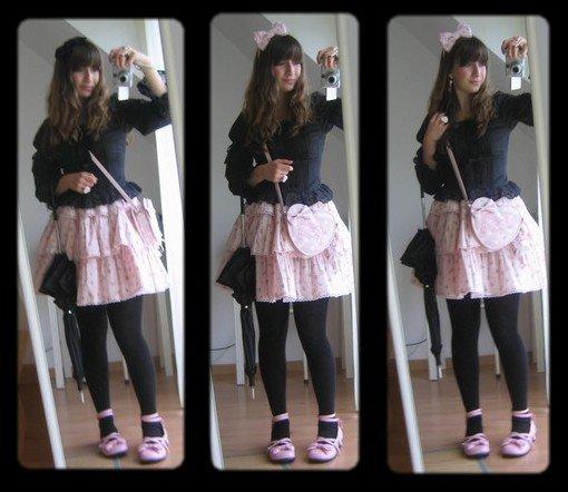♥ Casual en noir et rose ♥