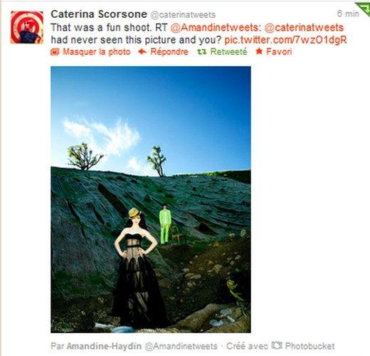 Réponse de Caterina sur Twitter (25.08.2012)