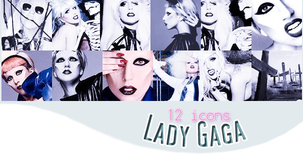 12 icons sur Lady Gaga