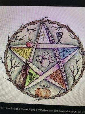 étoile du pentaGramme flamboyante alchimie