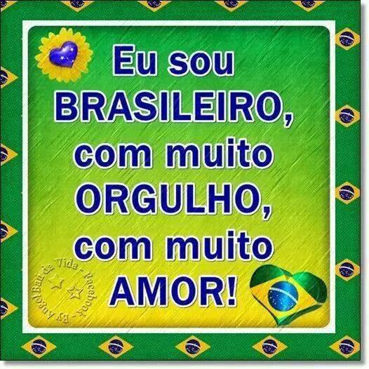Eu te amo meu Brasil ganhando ou perdendo