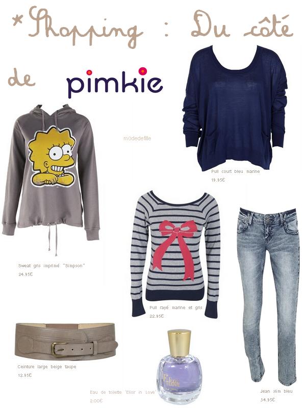 Shopping : Du côté de Pimkie .
