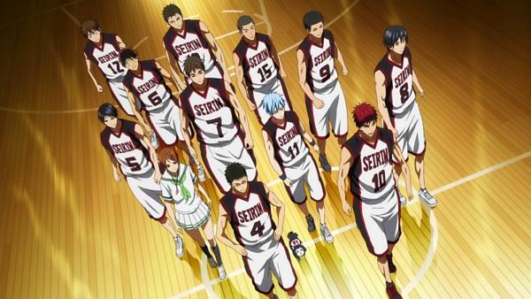 Personnage : club de basket du Lycée Seirin