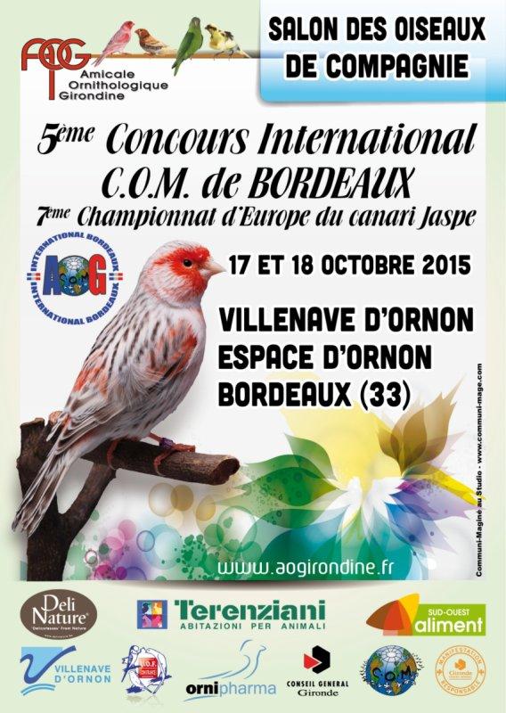Résultats concours international de Bordeaux COM
