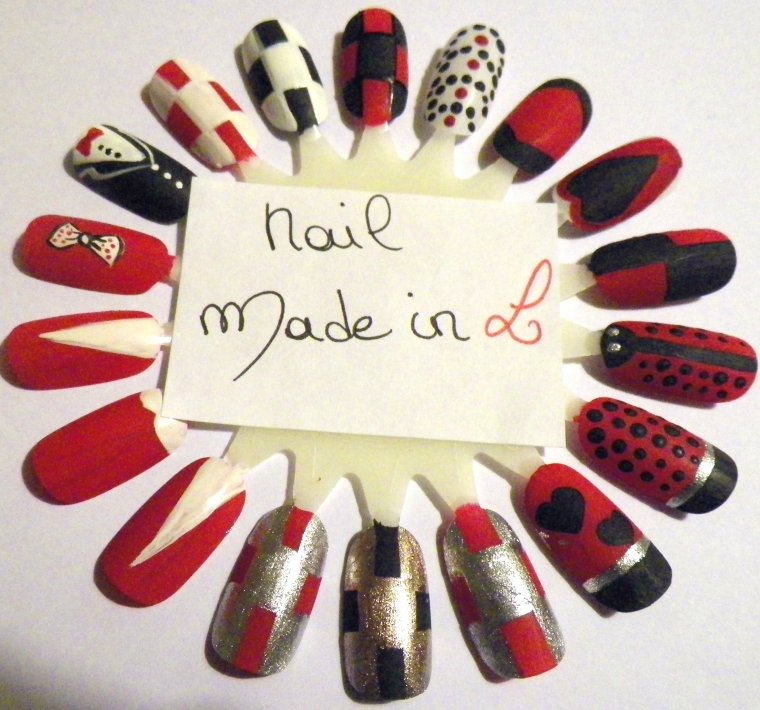 NAIL ART : RED IS RED : NAIL MADE IN L
