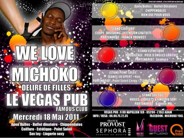 We Love Michoko @ Vegas Pub Mercredi 18 Mai