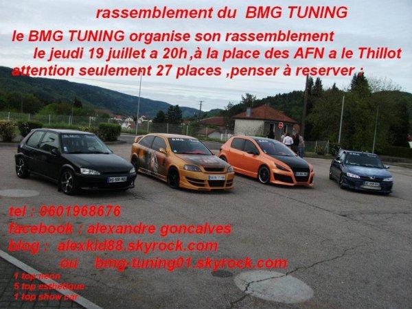 rassemblement du BMG TUNING