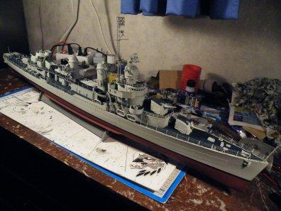 fletcher  class maquette revell 1/144
