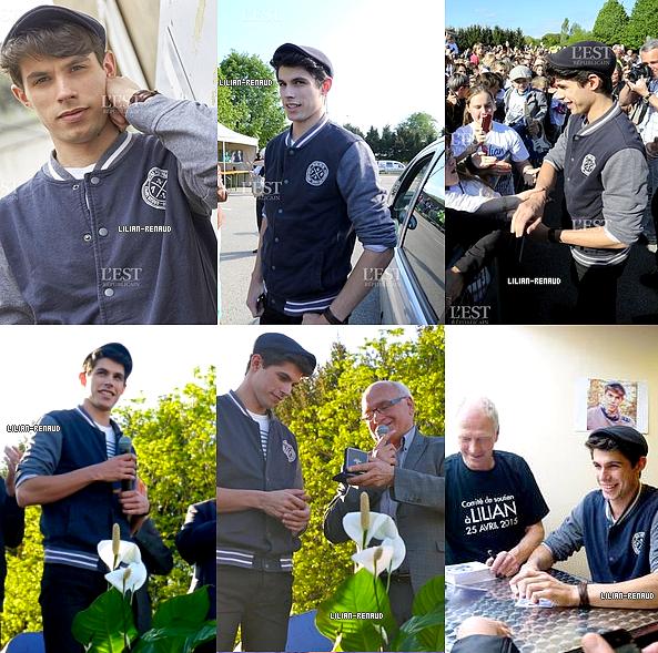 06/05/2015 - Lilian Renaud, le vainqueur de The Voice 2015, était ce mercredi après-midi sur ses terres, dans la petite commune de Mamirolle dans le Doubs près de Besançon, pour une cérémonie doublée d'une séance de dédicaces. Le jeune chanteur de 23 ans s'y est montré égal à lui-même.