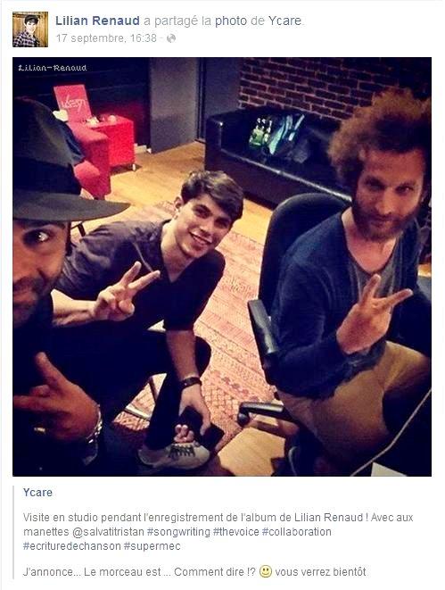 Ycare a partagé une photo durant laquelle Lilian travaille sur son enregistrement pour l'album.