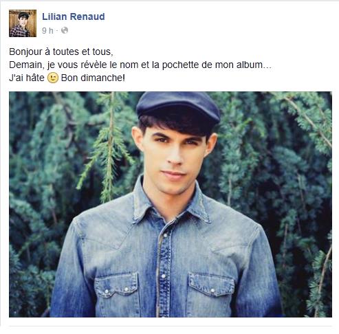 Lilian s'est adréssé à ses fans via son compte facebook pour les prévenir d'une info exclusive.