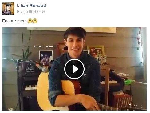 Lilian s'est adressé à ses fans via son compte Facebook pour les remercier.