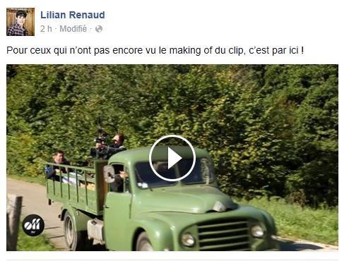 """Lilian s'est adressé à ses fans via son compte Facebook pour leur faire découvrir le making off du clip """"Promis Juré""""."""