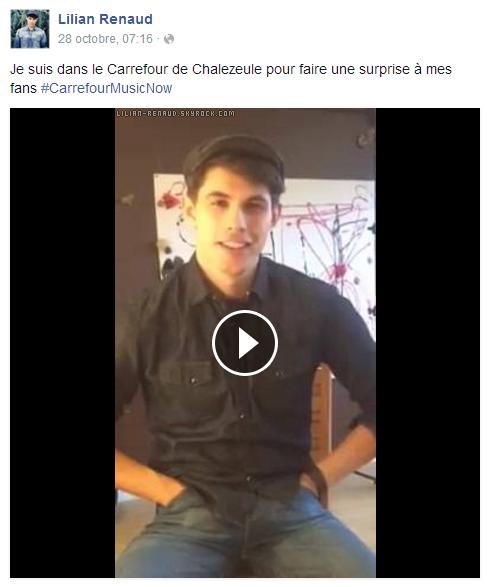 Lilian s'est adressé à ses fans via son compte Facebook pour faire une surprise à ses fans.