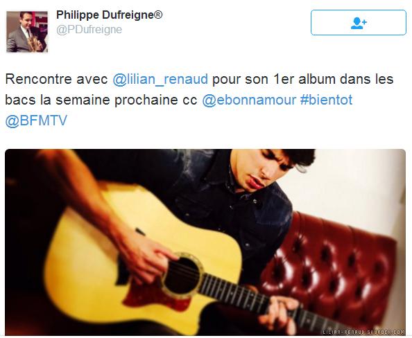 Des nouvelles de Lilian sur Twitter grâce à Philippe Dufreigne.