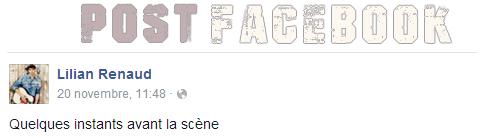 Lilian s'est adressé à ses fans via son compte Facebook pour le faire partager une petite vidéo.