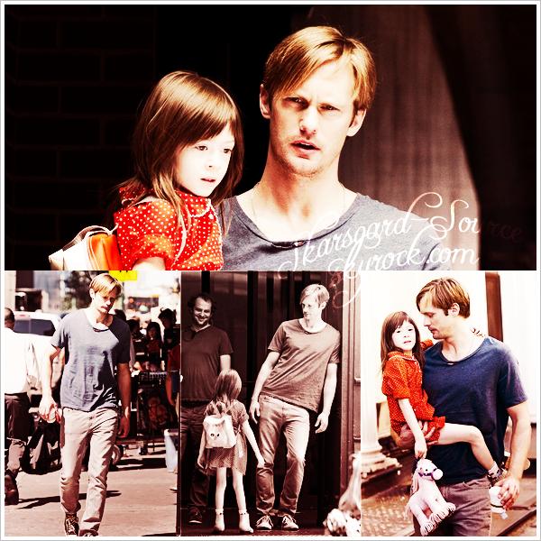 . 30 AOÛT - Alex' a été vu avec sa jeune co-star sur le set de son nouveau film, il a aussi pris une pause café. .