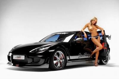 joli voiture et joli fille