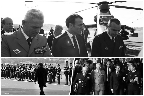 → 19 janvier 2018 : Le président Français, Emmanuel MACRON était de visite à Toulon, pour annoncer ses voeux aux Armées Françaises.