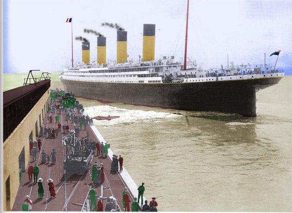 Une Nouvelle photo de L'olympic coloriser par Codus lionel et modifier par Ken Marschall en titanic