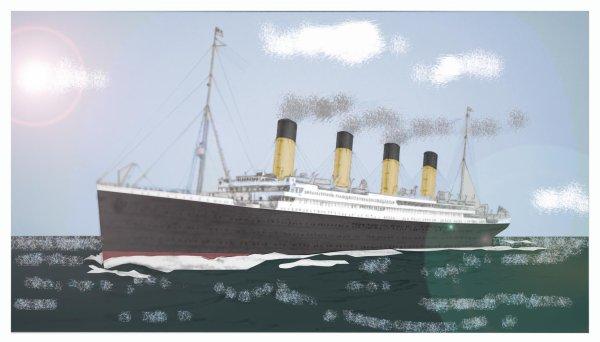 Un Dessin du titanic coloriser par Codus lionel.