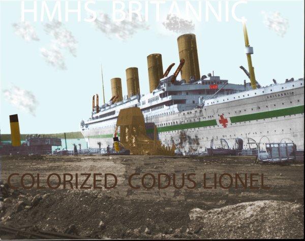 Le HMHS Britannic coloriser