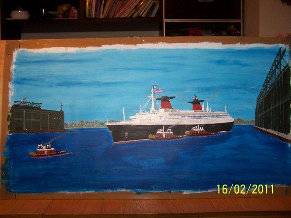 La peinture du SS France enfin terminée