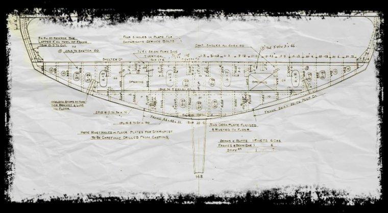 Plans coupe arrière Olympic & Titanic  et plans Chaudière des chantier Harland & Wolff.