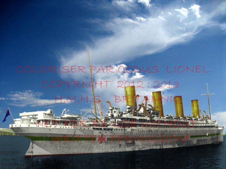 Nouvelle photographie coloriser du HMHS Britannic par Lionel CODUS
