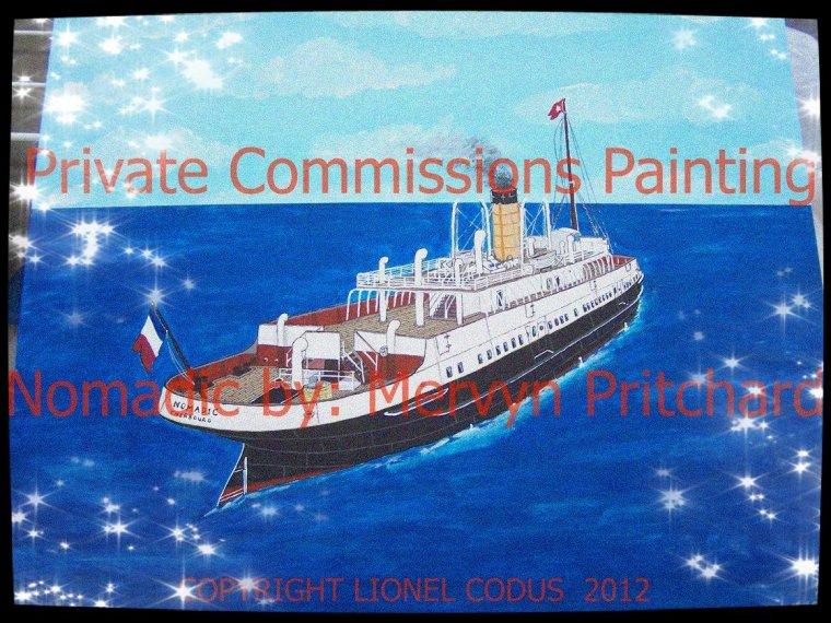 Bonjour à tous , une peinture terminée du  SS Nomadic