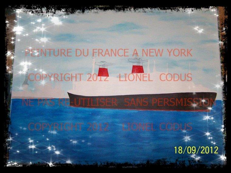 Voici une nouvelle commande de peinture du France à New York deux versions de cette peinture .