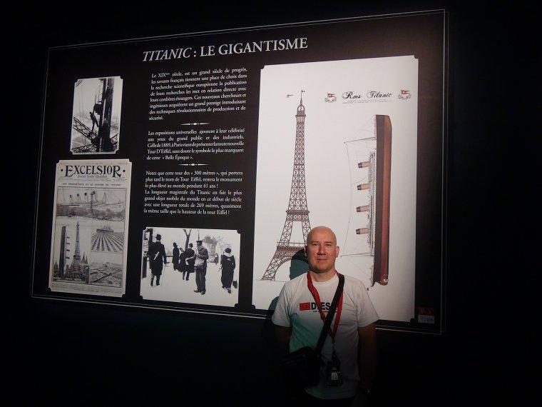 Le créateur de ce magnifique plan artistique qui est le Titanic exposer à paris