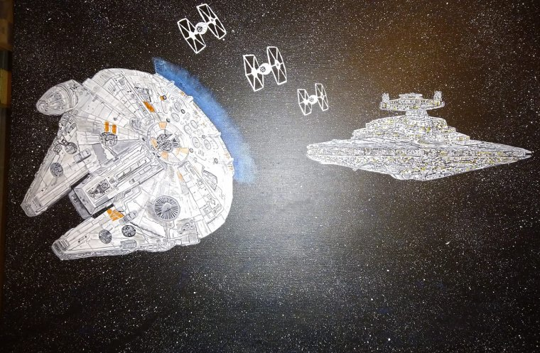 Nouvelle peinture sur Star Wars