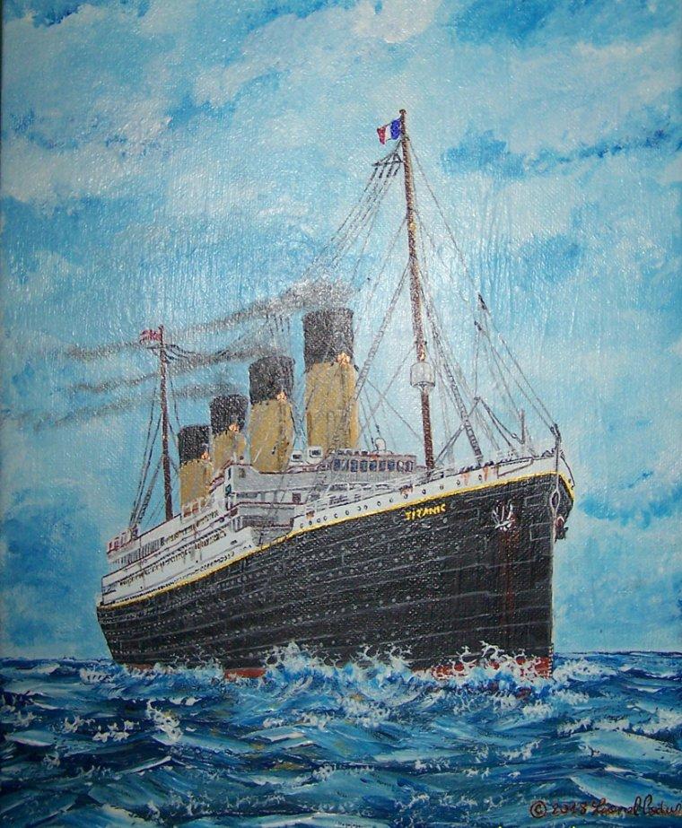 Peinture du Titanic