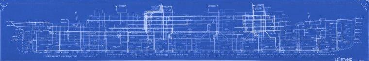 COLLAGE DES PHOTOS DE L'ORIGINAL S.S. TITANIC PUMPING PLAN 401 H&W