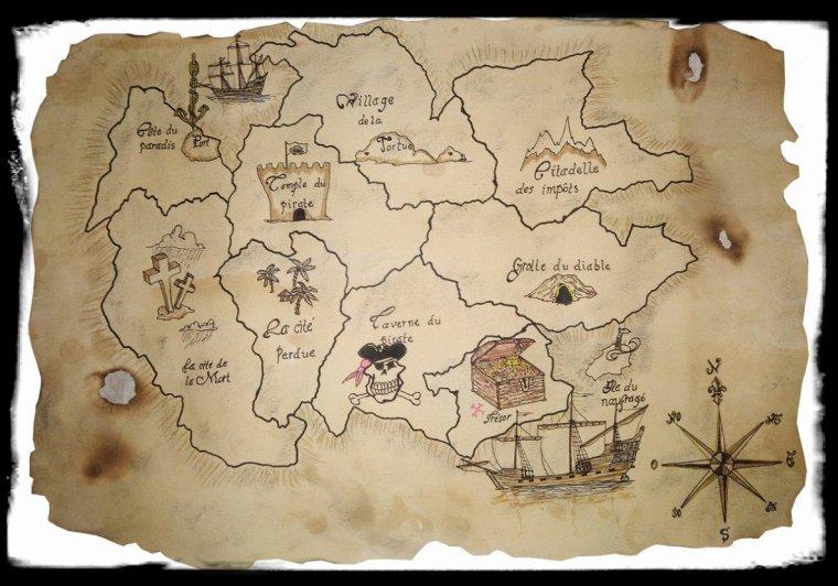 Dessin D Une Carte Aux Tresors Les Peintures Des Transatlantiques