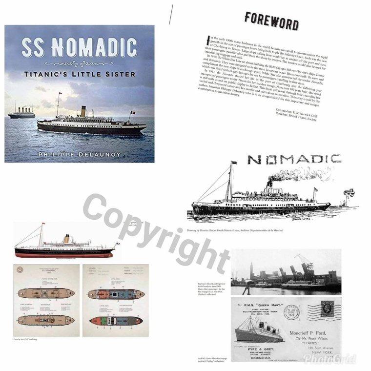 Un nouveau livre sur le SS NOMADIC écrit par l'auteur Philippe Delaunoy